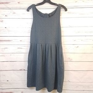 Anthropologie Deletta Blue Sleeveless Pocket Dress